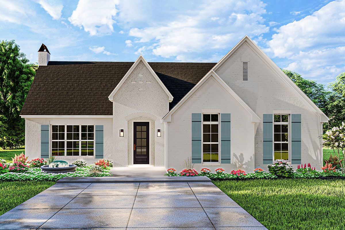 Plan 62158v onestory french country cottage with vaulted