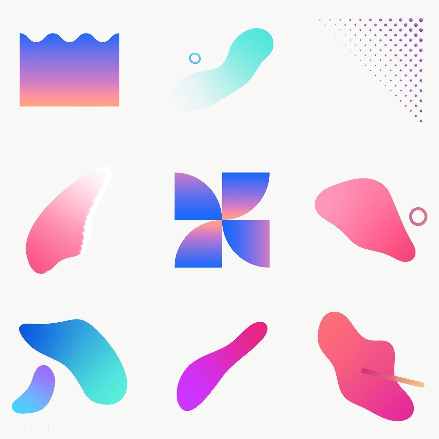 Colorful Gradient Elements Collection Transparent Png Premium Image By Rawpixel Com Nunny Gradient Illustrator Gradient Design Elements