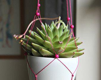 Adjustable Plant Hanger, Pink