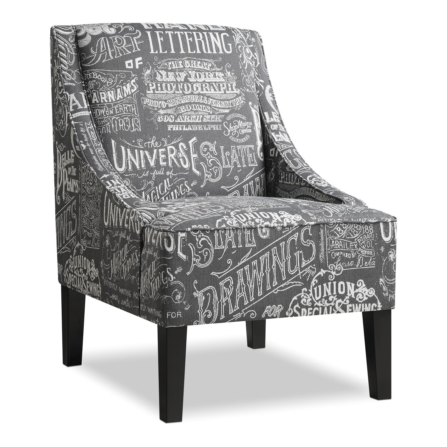 Delightful Chalk It Up. The Gray Hue And Chalkboard Style Of The Carter Chair Make It