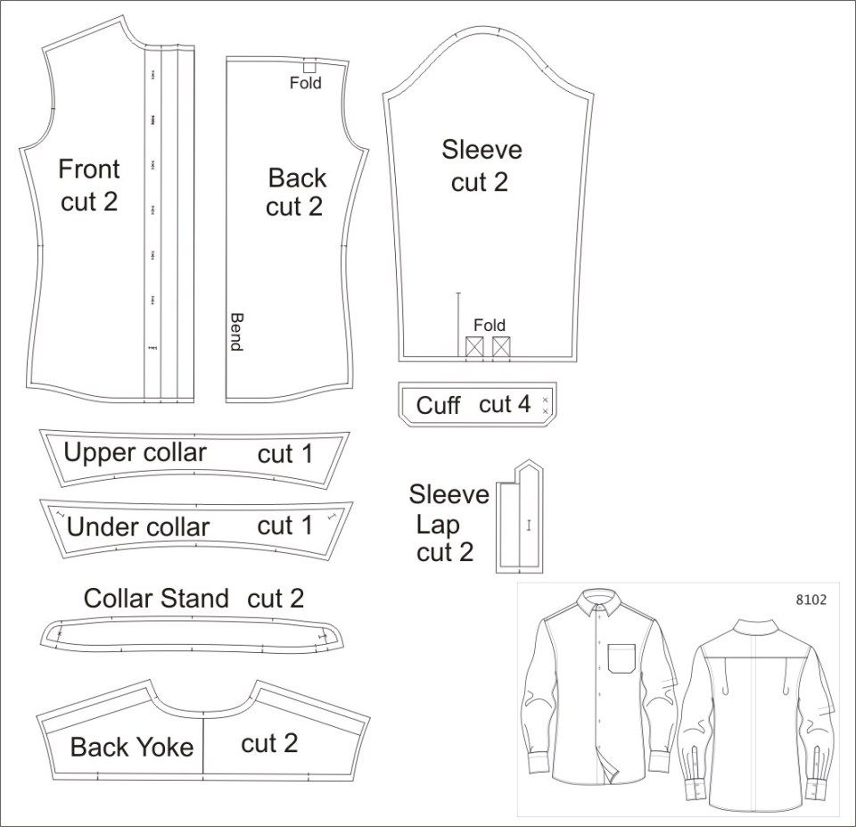 Men S Shirt Sewing Pattern Exclusive Vado Designs Made To Measure