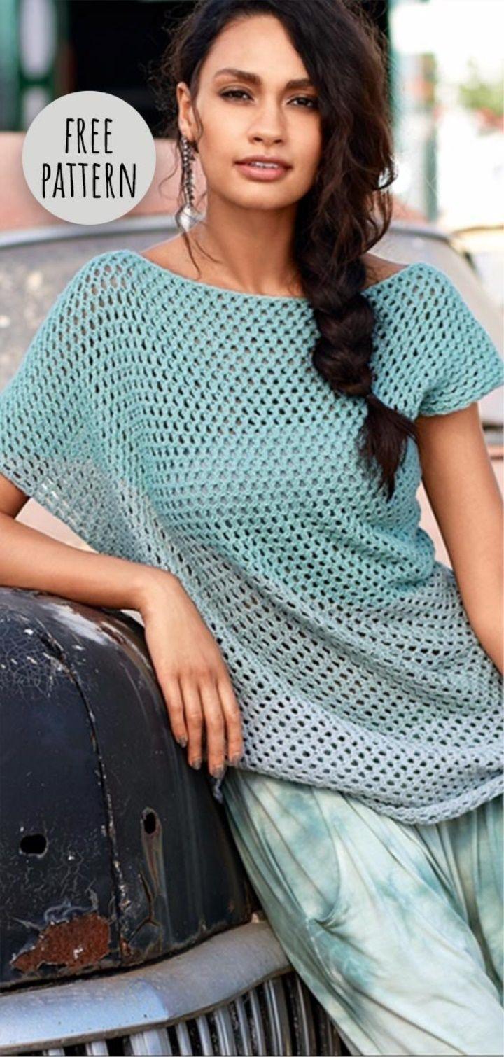 Crochet Jumper Free Pattern #crochetdress