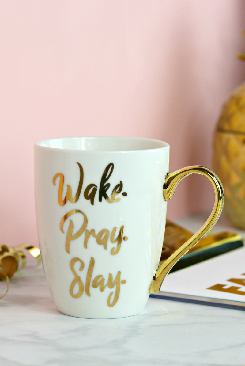 Wake Pray Slay | Christian Coffee Mug | Motivation | Pinterest ...
