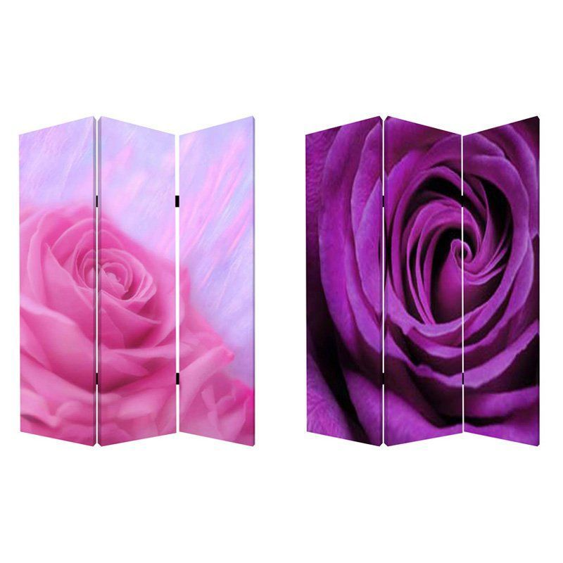 Screen Gems Flourish Canvas Double Sided Room Divider - SG-139