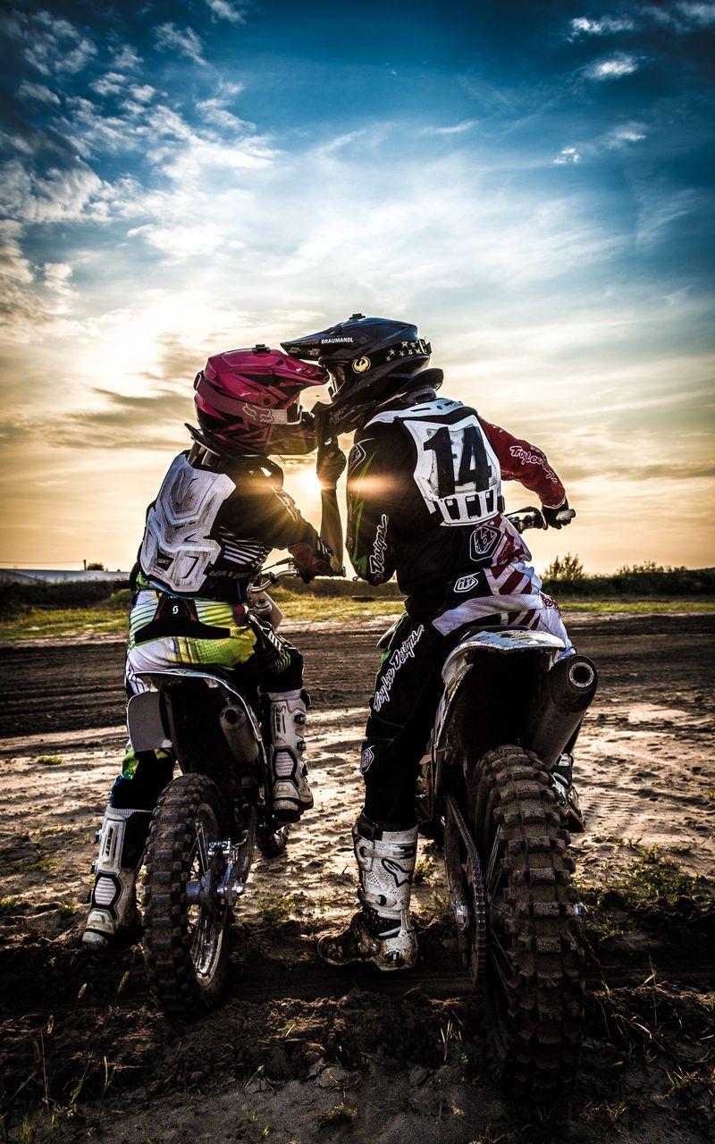 800x1280 Wallpaper Motocross Kiss Love Moto Sport Sunset Moto De Trilha Casais De Moto Trilheiros