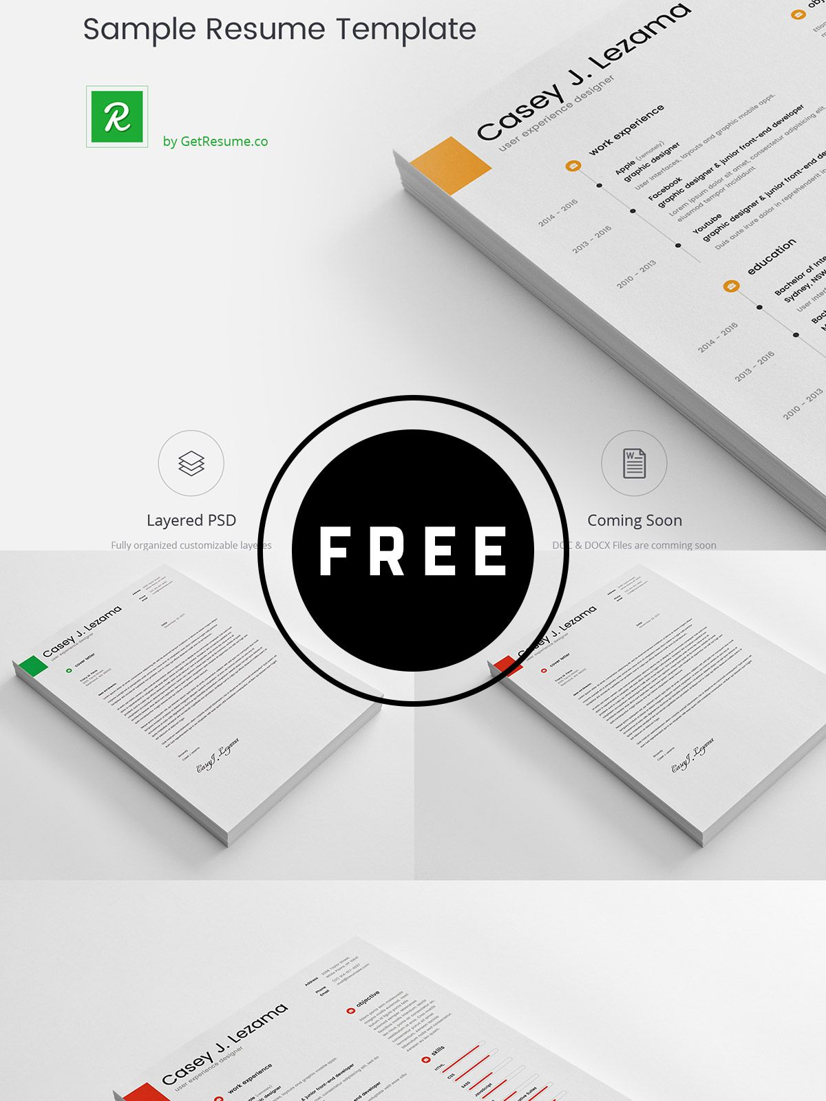 98 Awesome Free Resume Templates In This Post Are Made By Creative
