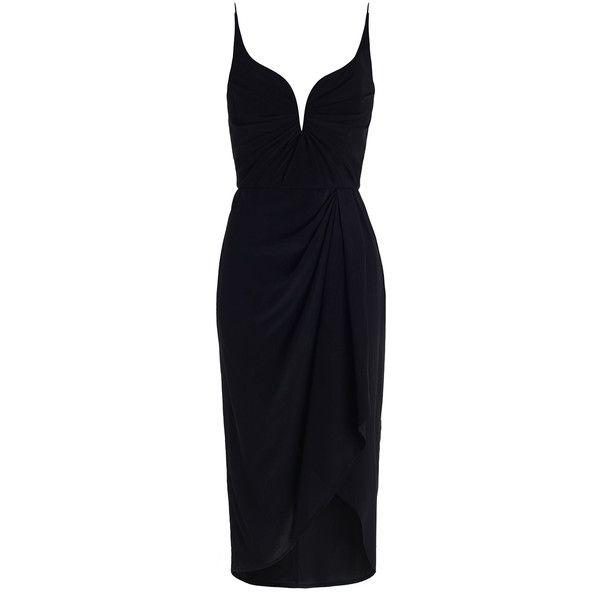 ZIMMERMANN Silk Drape Dress (€275) ❤ liked on Polyvore featuring ...