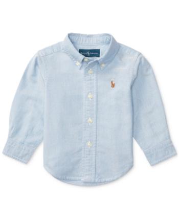 3f48cf35c Ralph Lauren Baby Boys Solid Oxford Shirt - Light Blue 3 months in ...