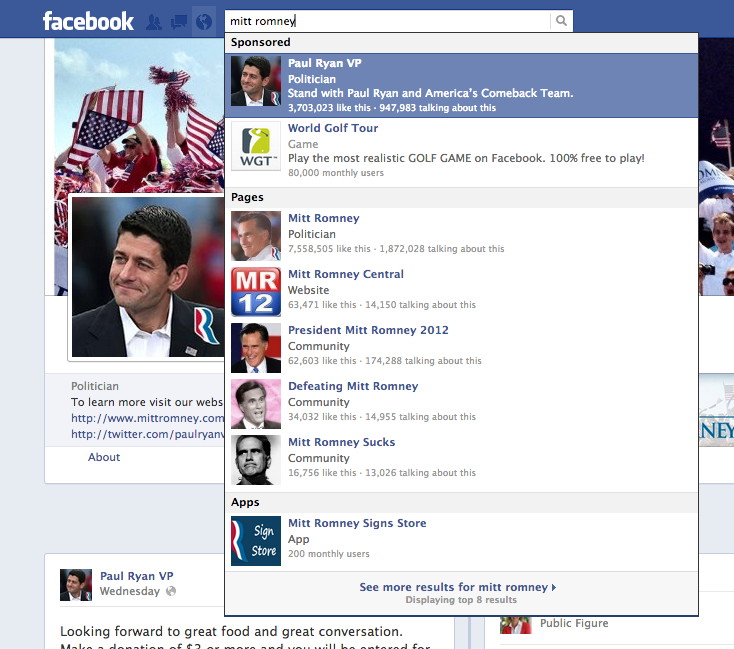 The Guillotine: Romney Campaign Dumps Romney: Pushes Ryan On Facebook