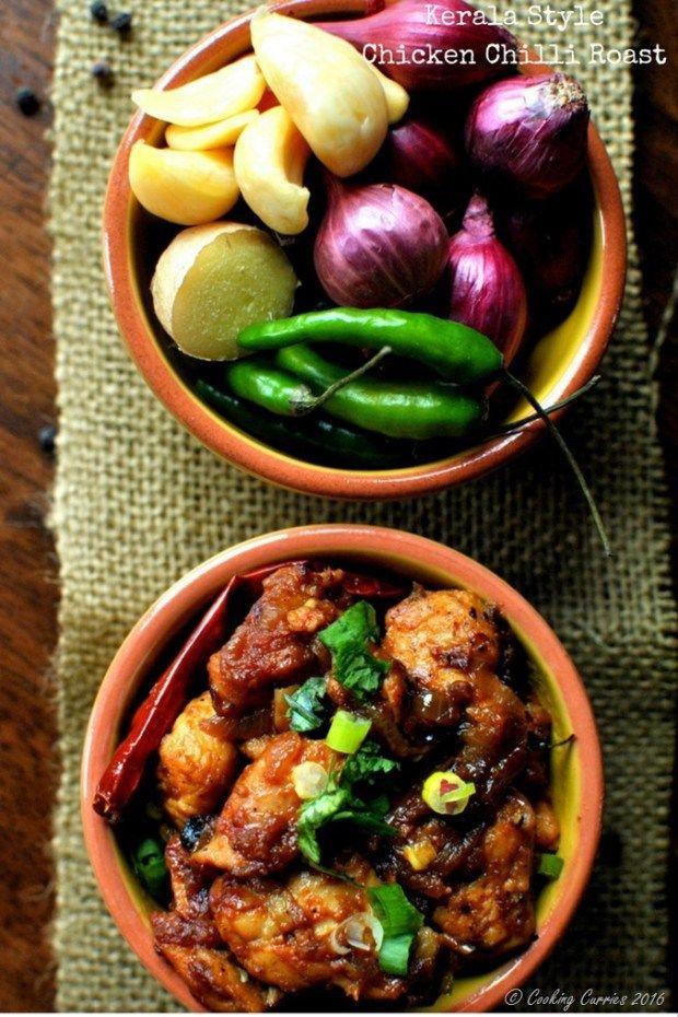 Kerala Style Chicken Chilli Roast   Beef recipes, Indian ...
