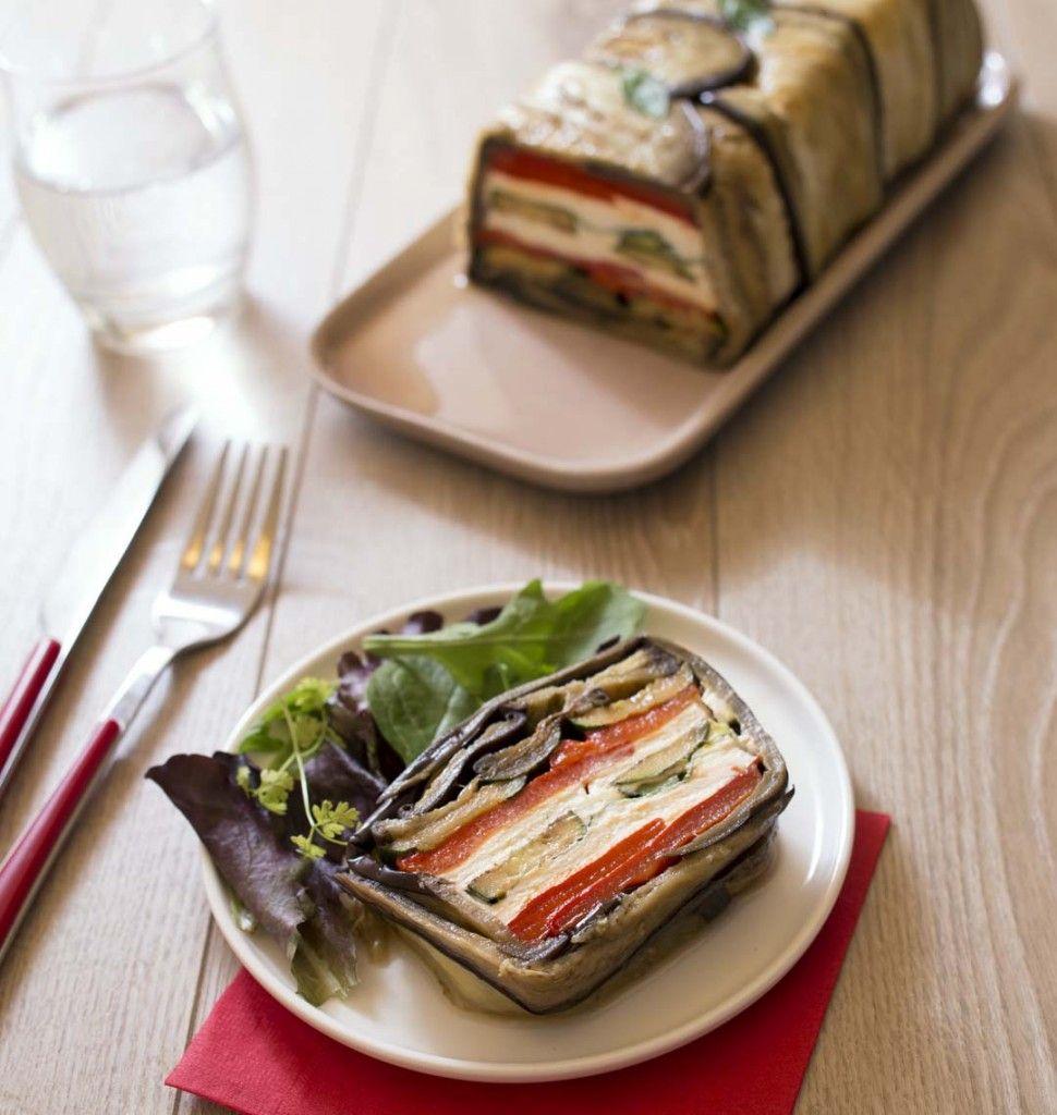 terrine de légumes grillés au chèvre | recette | terrine de légumes