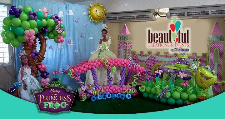 Princess Tiana Party Supplies 5th Birthday Balloon Bouquet Decorations