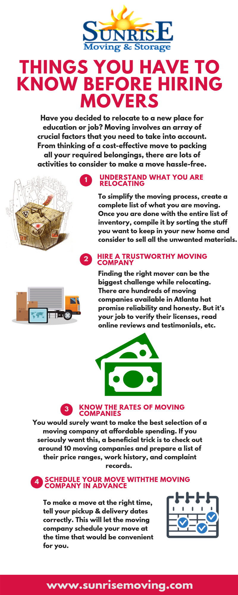 Before Hiring Movers Https Sunrisemoving Com The Things You Have To Know Before Hiring Movers 1 Understan Hiring Movers Moving And Storage Atlanta Movers