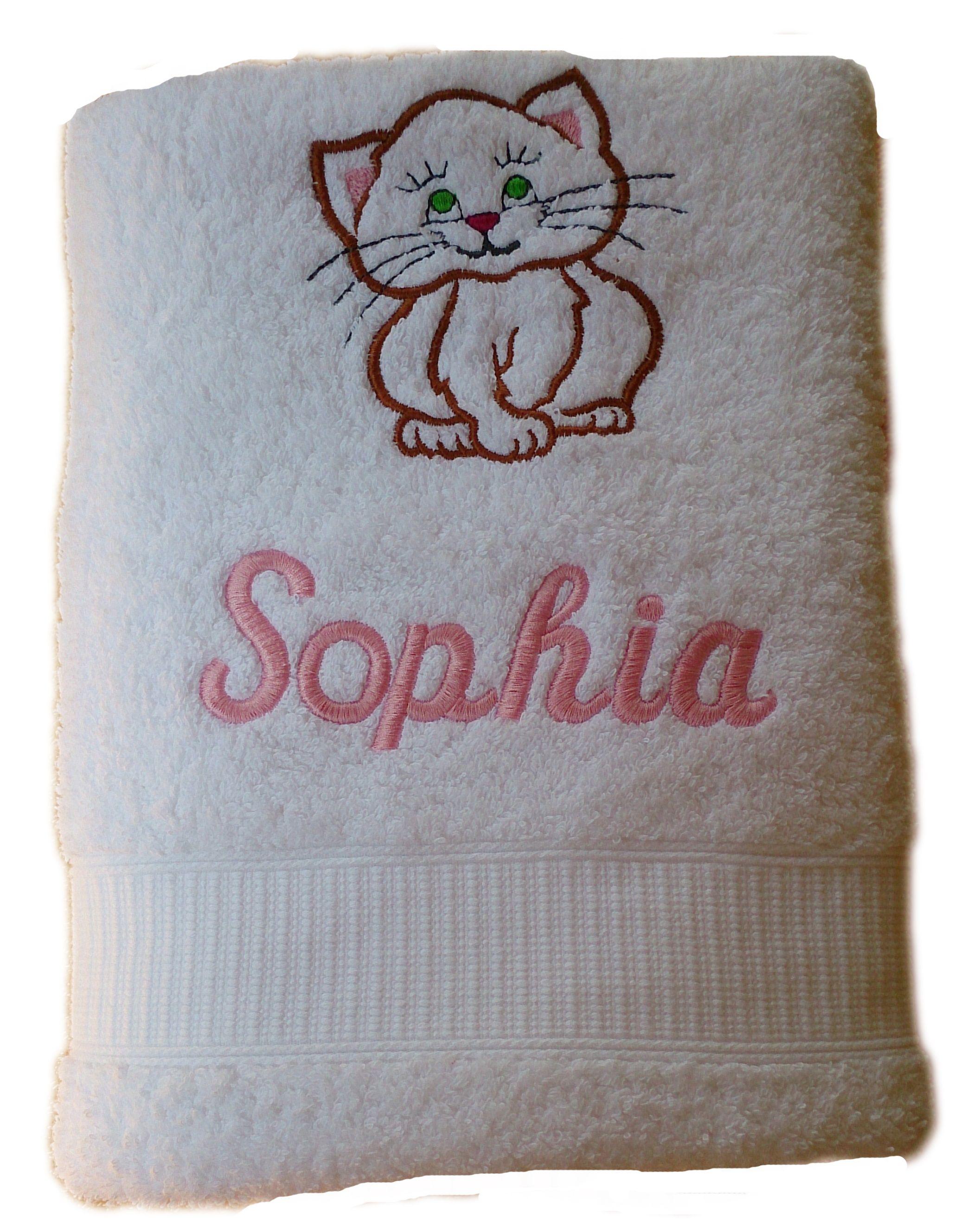 Kapuzen Handtuch Mit Name Bademäntel Katze Gesicht Bestickt auf Handtücher