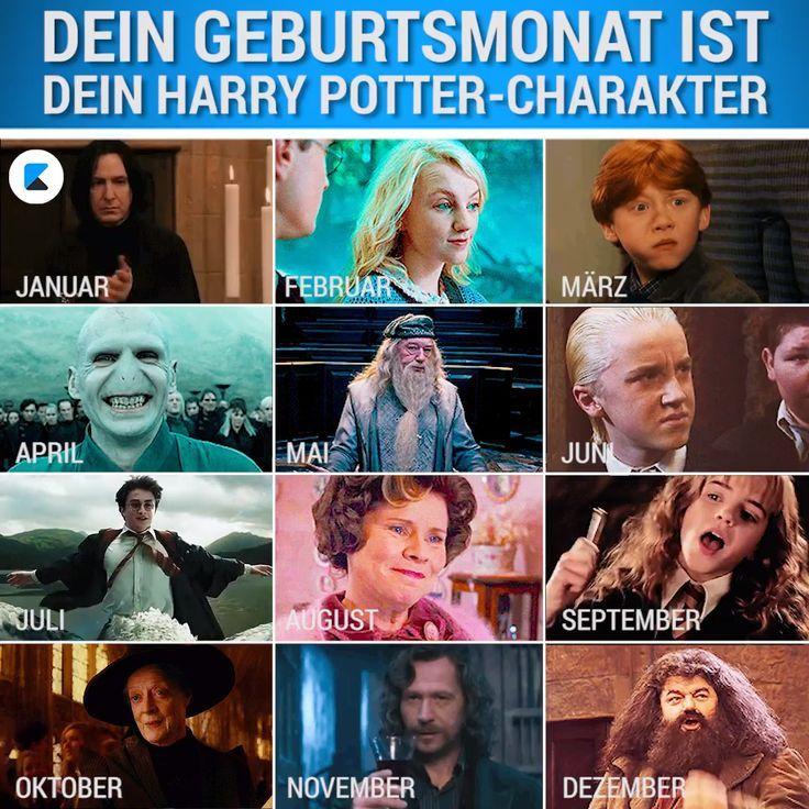 Dein Geburtstmonat Ist Dein Harry Potter Charakter Which Character From The Harry Potter Harry Potter Characters Harry Potter Jokes Funny Harry Potter Jokes