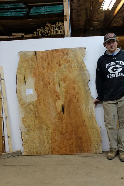 4635x2 Curly Birdseye Maple Wood Slab Natural Live Edge Table Top