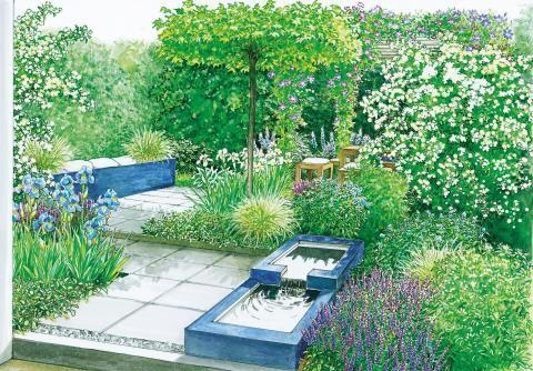 Vom Rasen zum kleinen Gartentraum Pinterest - reihenhausgarten vorher nachher