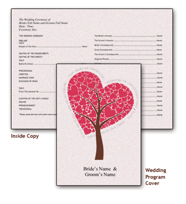 Create A Wedding Program With These Stylish Free Templates