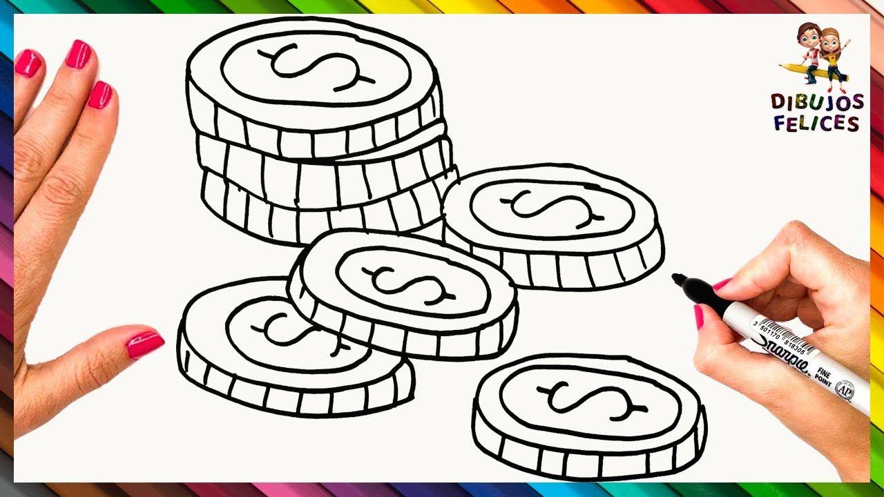 Como Dibujar Unas Monedas Dibujo Facil De Monedas O Dinero Como Dibujar Monedas Dibujo Facil