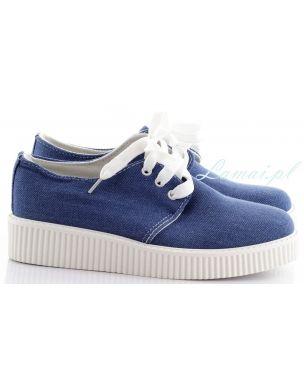 Niebieskie Trampki Jeans Creepersy T 8 Tretorn Sneaker Sneakers Shoes