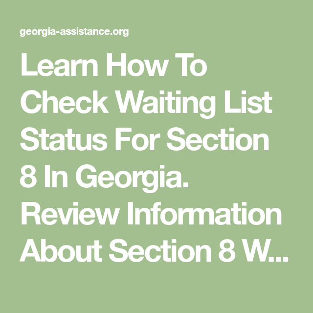 Learn How To Check Waiting List Status For Section 8 In ...