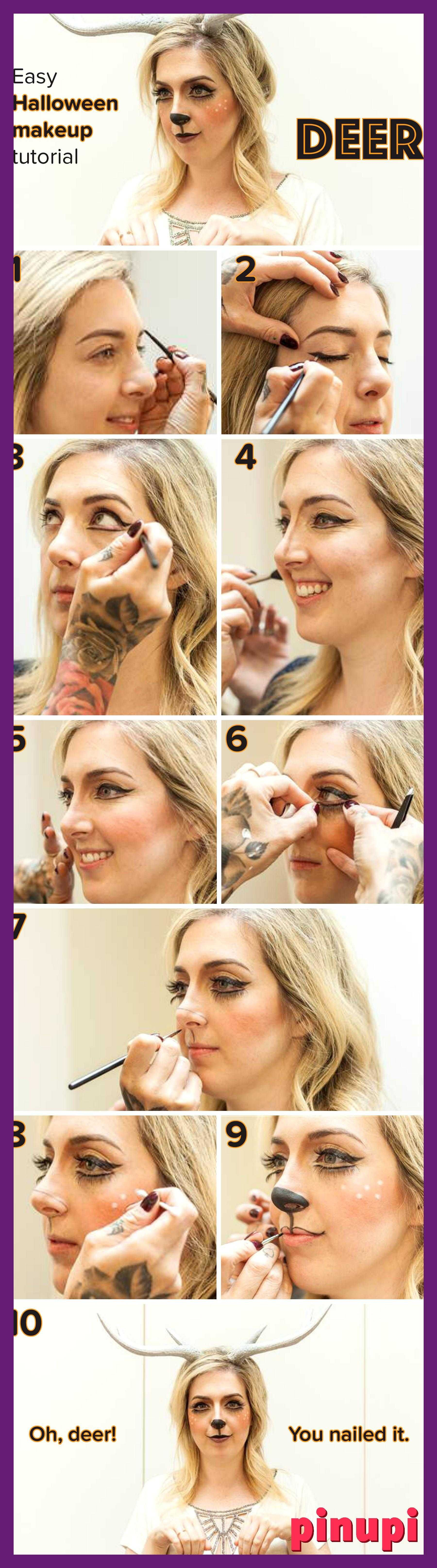 This Halloween Deer Makeup Tutorial Is Secretly The World S Easiest Costume This Halloween Deer Makeup Tutorial Is Secretly The World S Easiest Costume If You Re Intimidated By Halloween Makeup Tutorials This Deer Costume Will Change Your Mind This Might Be The Least Intimidating Halloween Makeup Tutorials Ever