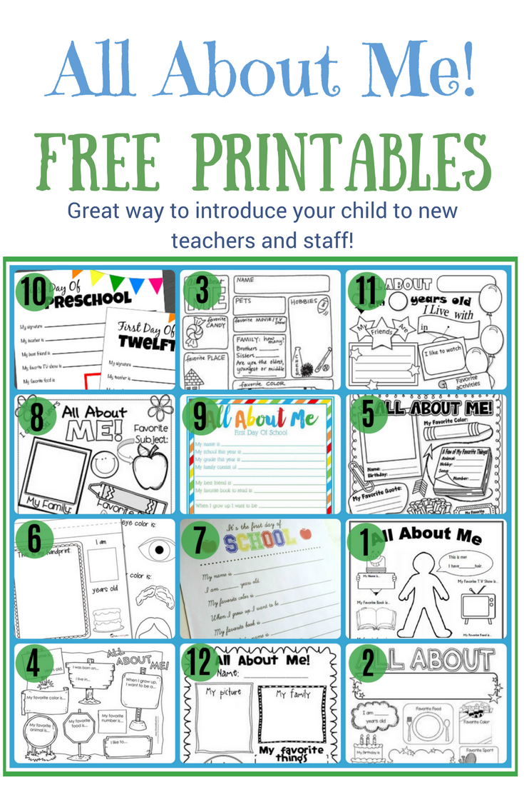 Free All About Me Worksheet   Template   Printable   PDF   All about me  preschool [ 1102 x 735 Pixel ]