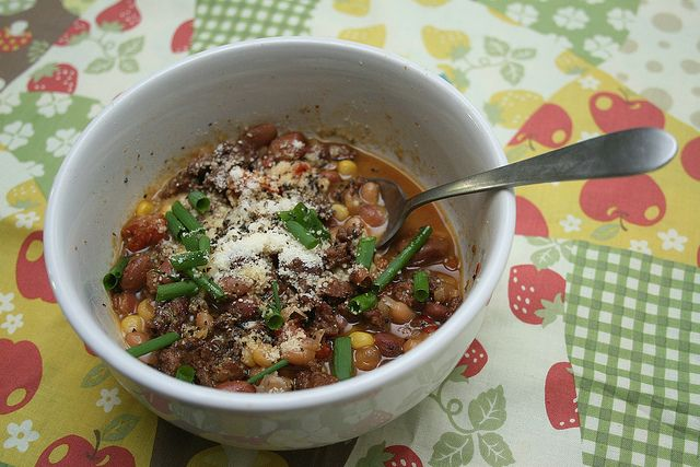 Slow Cooker Mixed Bean Soup