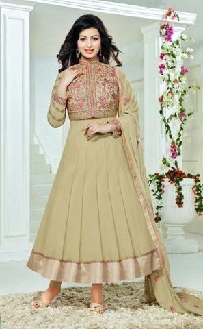 Brown Georgette Buy Online Salwar Kameez ,Indian Dresses - 1