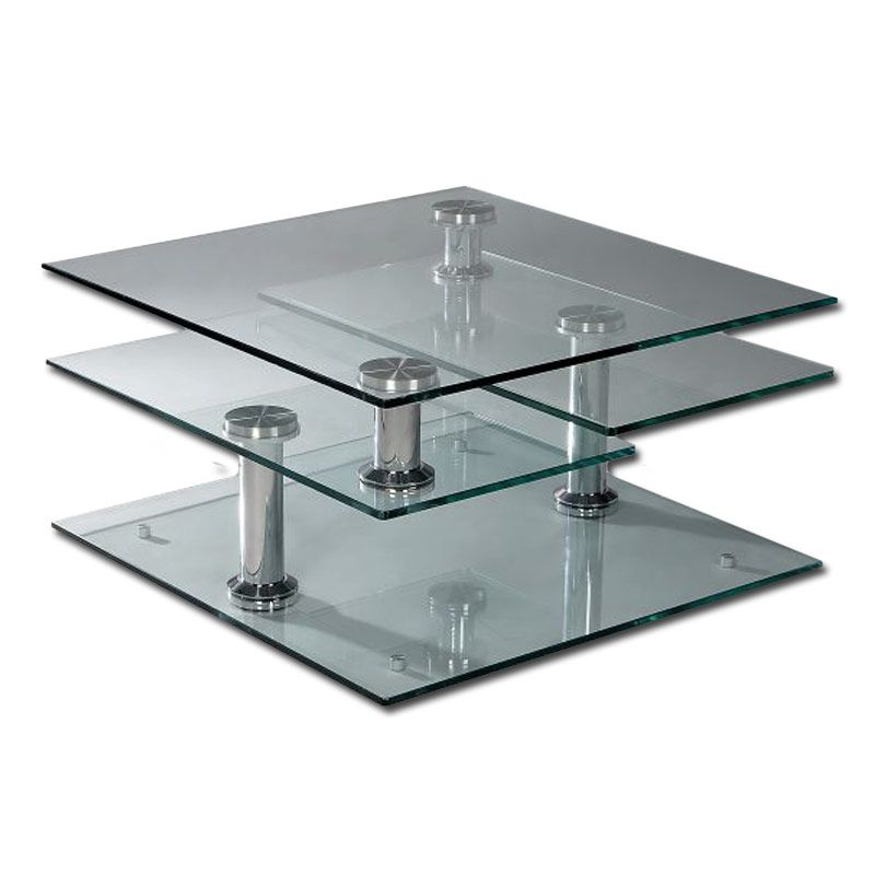 Square Coffee Table Tempered Glass: Tempered Glass 4 Tier Swivel Coffee Table Cakepins.com