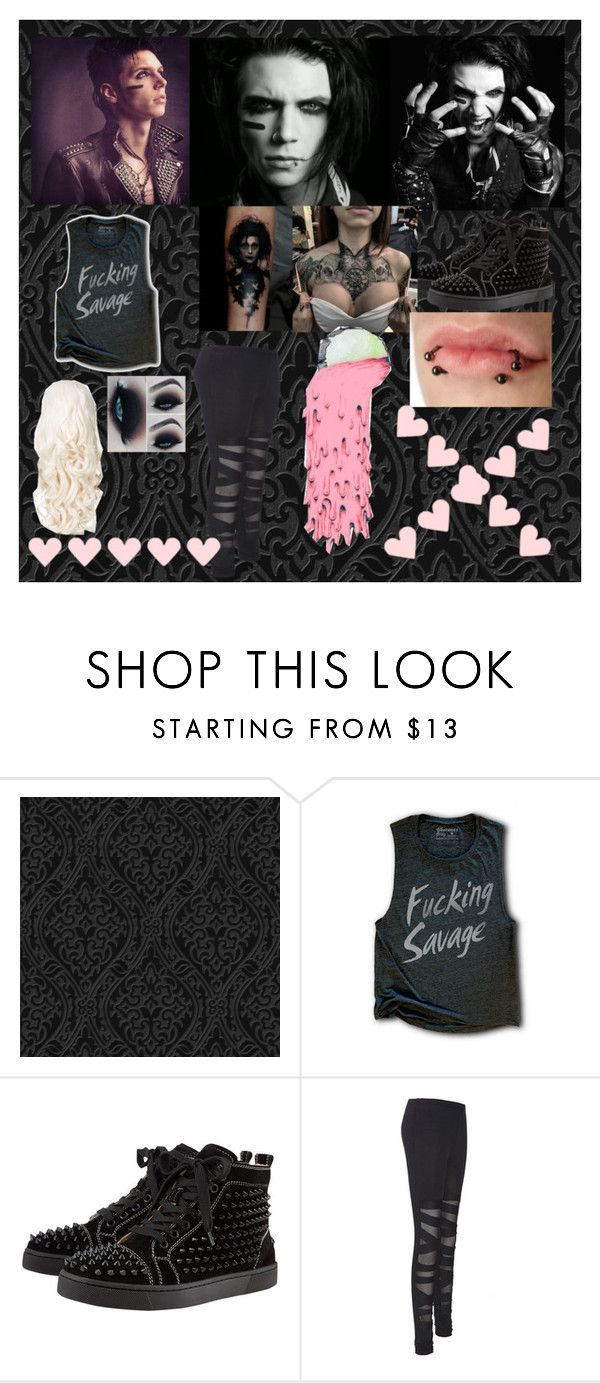 """recording Put the Gun Down with Andy"" by ladonna-paiz ❤ liked on Polyvore featuring Christian Louboutin"