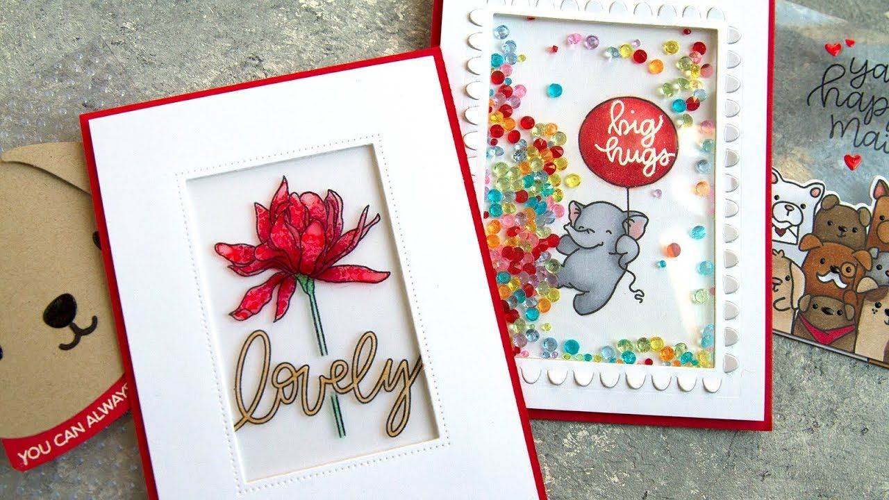 cardmaking video tutorial by Jennifer McGuire: 3 Ways to use Clear