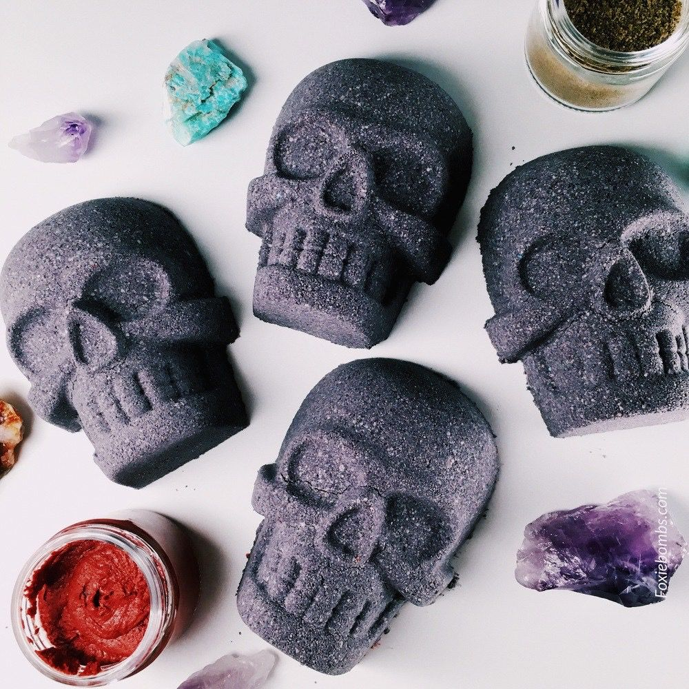 Rest in Peace with these Dark Bath Bombs