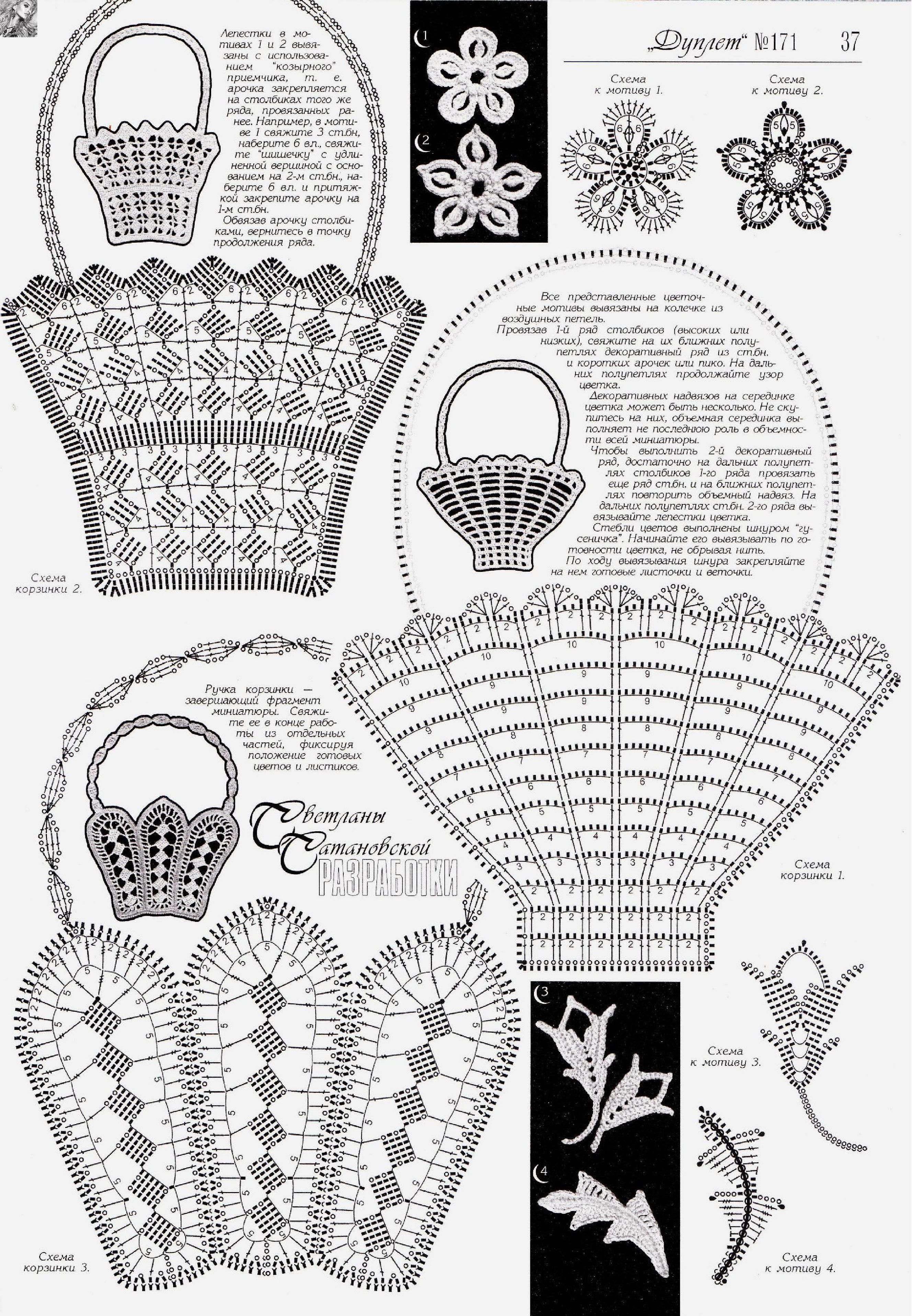 Page_00047.jpg   szydełko - koszyczki...   Pinterest   Crochet ...