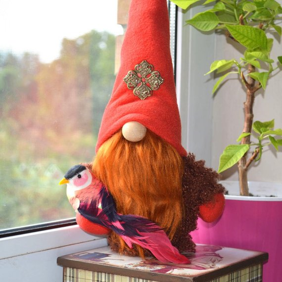 Christmas gnome Interior toy, Christmas decoration, New year toy