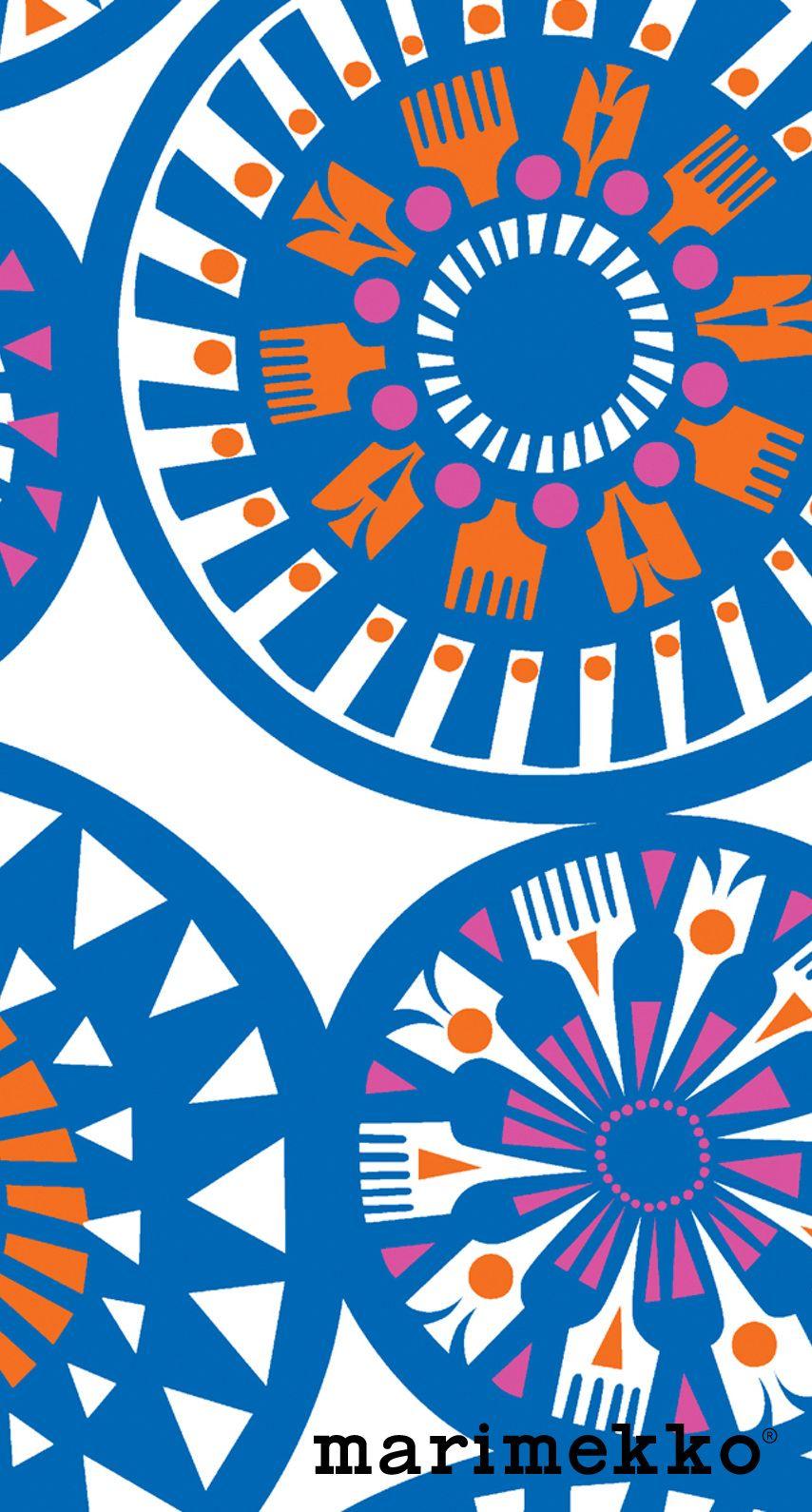 Marimekkofloral15 布地プリント 北欧 壁紙 パターンデザイン