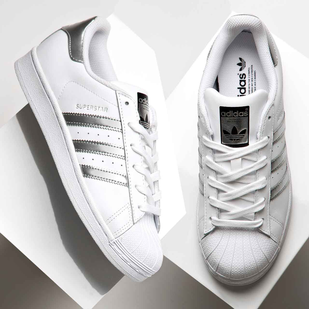 c994fb07ebc75 Add the adidas Originals Womens Superstar Metallic Trainer to your  collection.