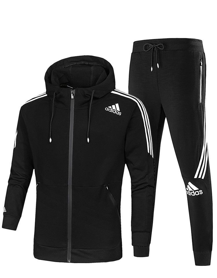 1e7d3161a1869 ADIDAS CLASSIC MEN'S FULL ZIP HOODED TRACKSUIT HOODIE & PANTS ...