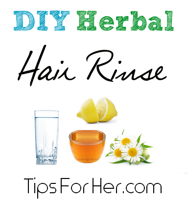 DIY Herbal Hair Rinse - A super simple hair rinse that strenghtens and repairs, enhances color and helps prevent from hair loss.