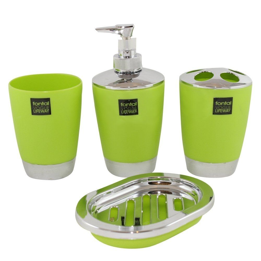 Charmant Black And Lime Green Bathroom Accessories