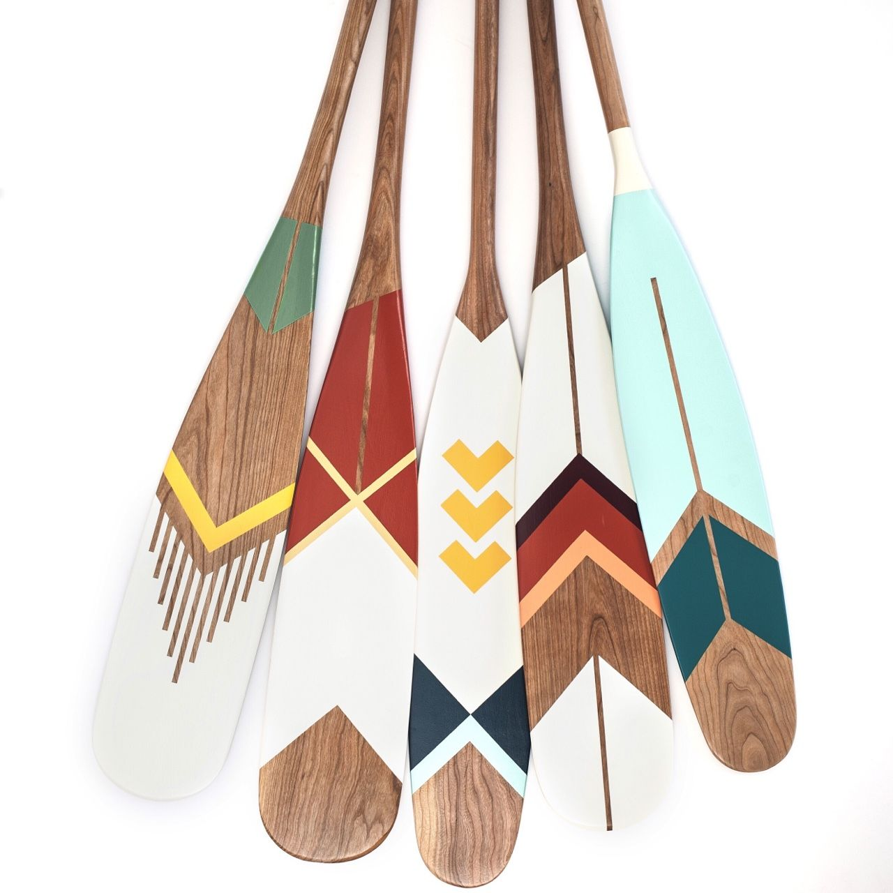 Artisan Painted Canoe Paddles