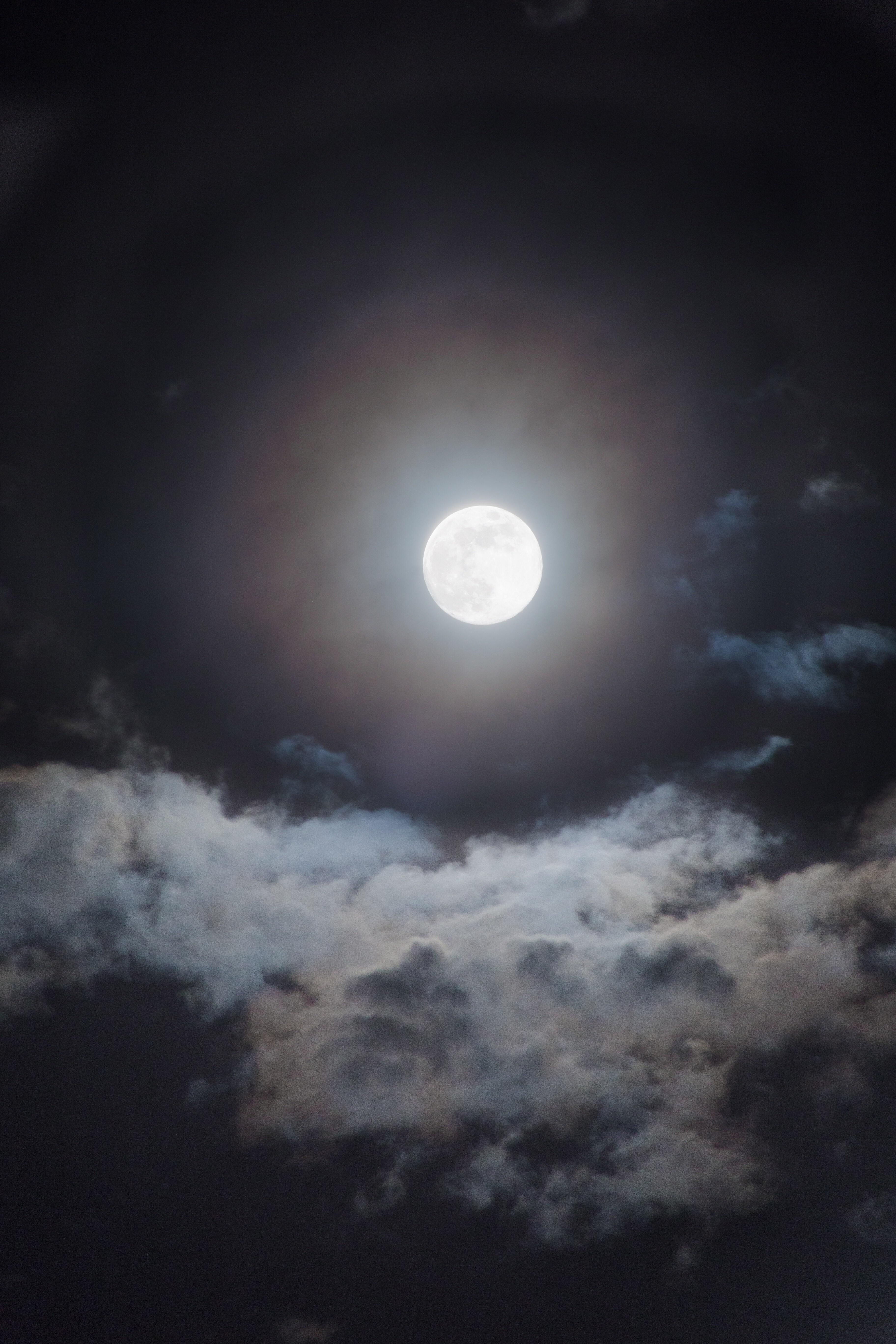 The Moon On A Partly Cloudy Night Sky Skies Nature Photography Night Sky Photography Cloudy Nights Night Sky Moon