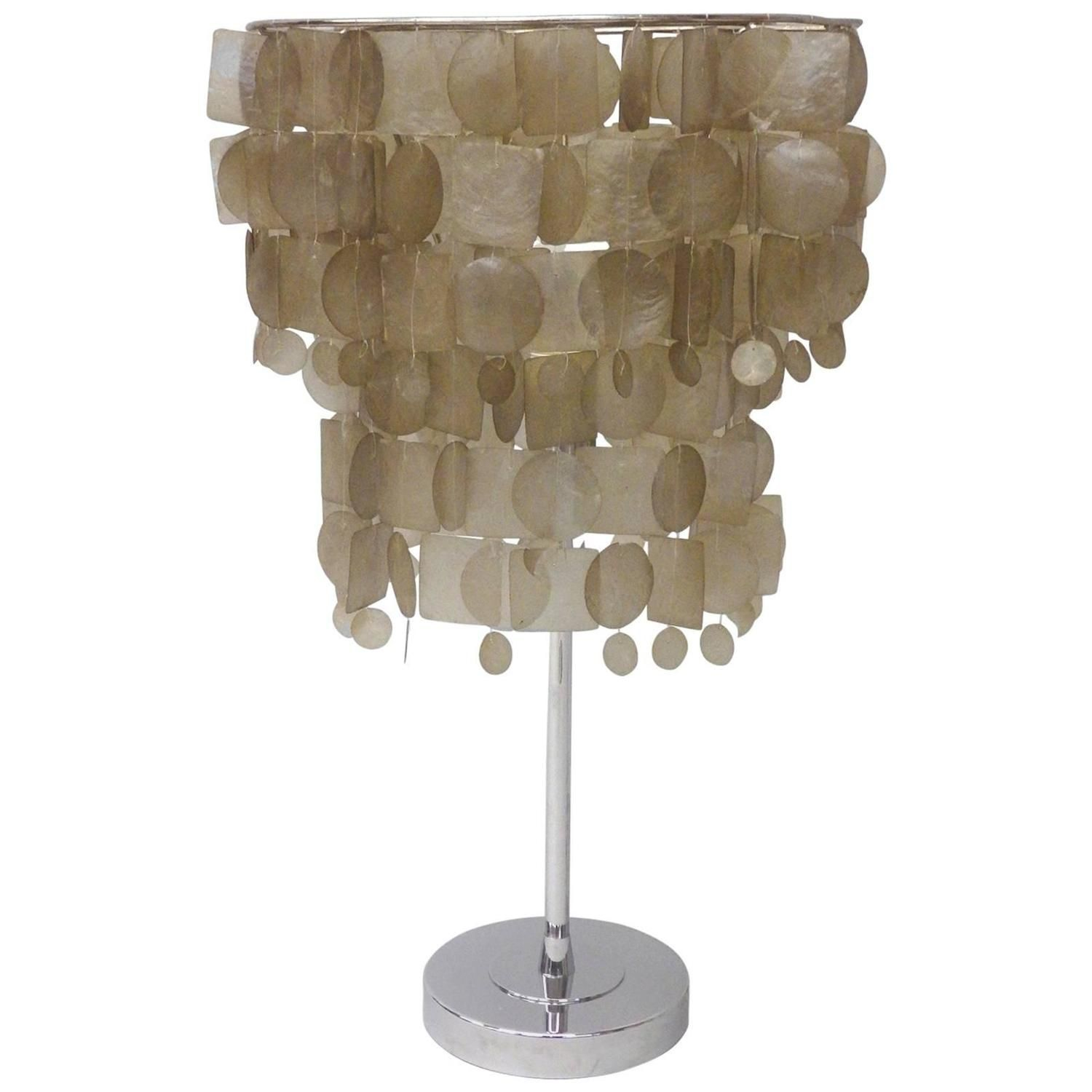 Pink capiz shell table lamp httpargharts pinterest pink capiz shell table lamp aloadofball Images