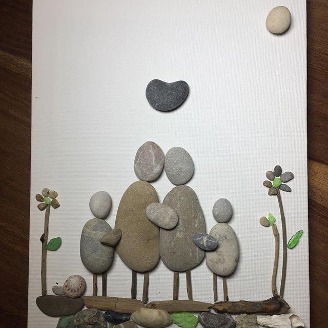 Trend Steinbild steine stone stones wood woodart woodstone nature naturelovers bilder leinwand deko wanddeko stoneart stone art artwork instapic