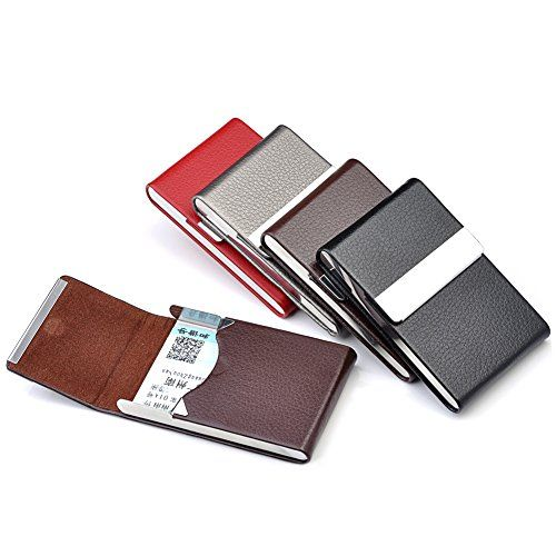 Ayliss-Top-Quality-Stainless-Steel-Leather-Magnetic-Shut-Bussiness-Card-Holder