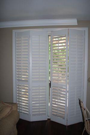 Wood shutters for sliding patio door basement floor s pinterest wood shutters for sliding patio door planetlyrics Image collections