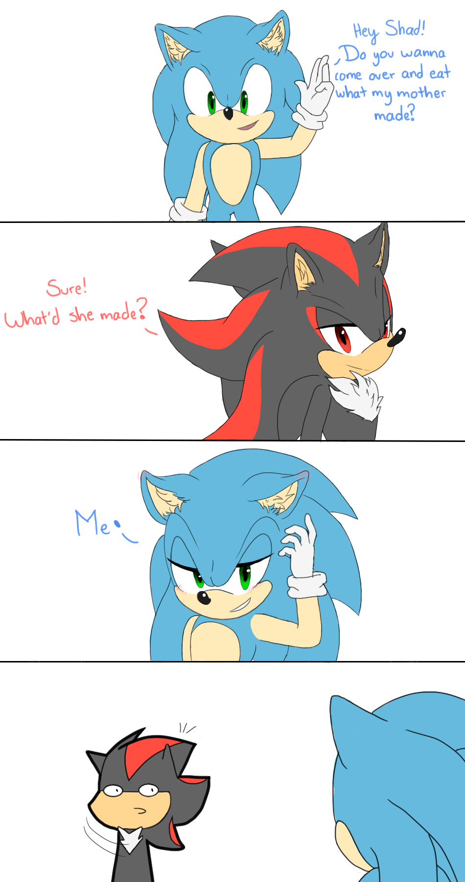 Bon Appettit Sonic And Shadow Sonic Funny Sonic Fan Characters