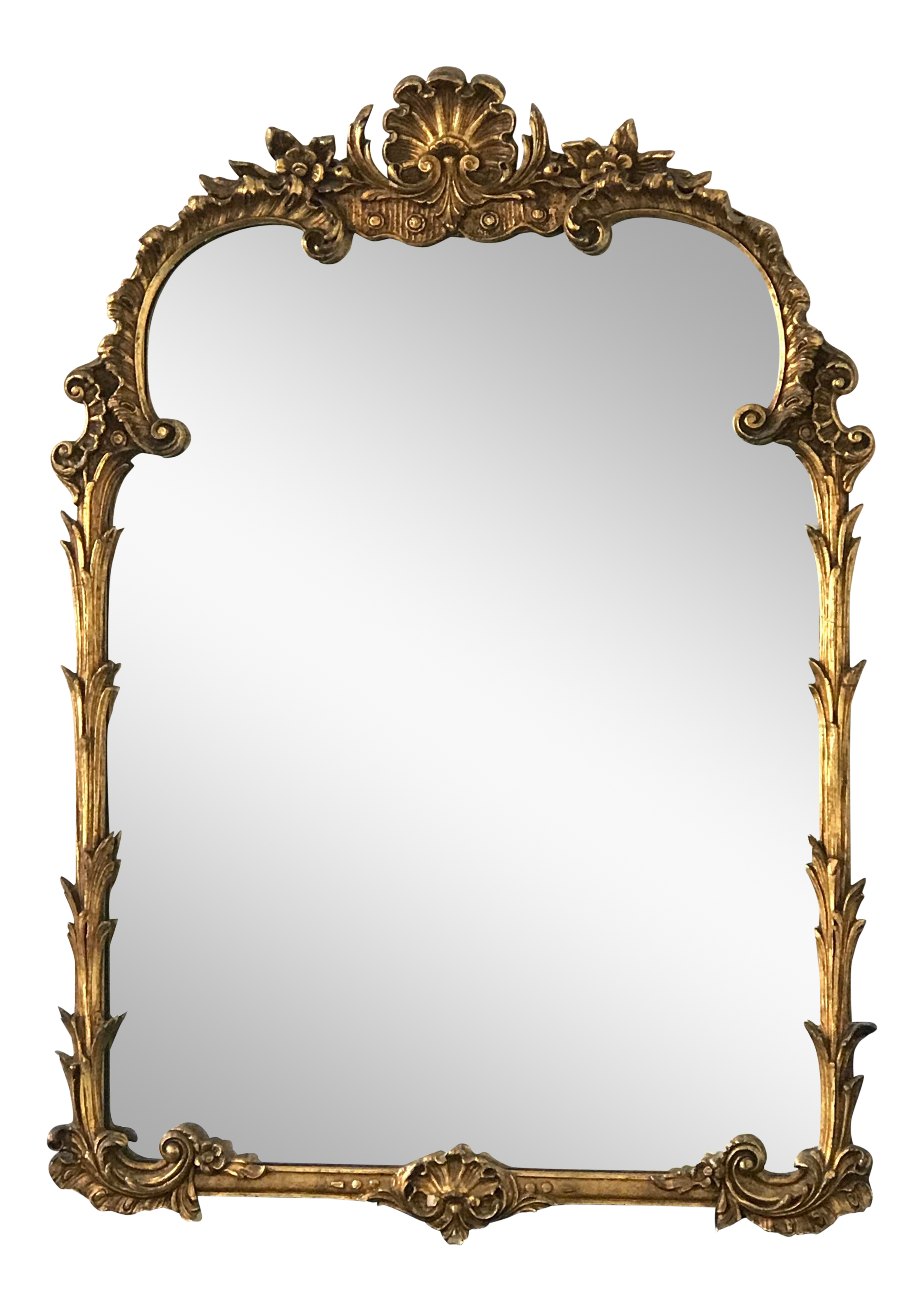 20th Century New Fashion Vintage Gilt Carved Mirror Antiques