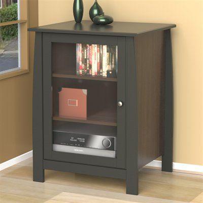 Nexera 102217 Profile Audio Cabinet Home Entertainment Furniture Cabinet Shelves