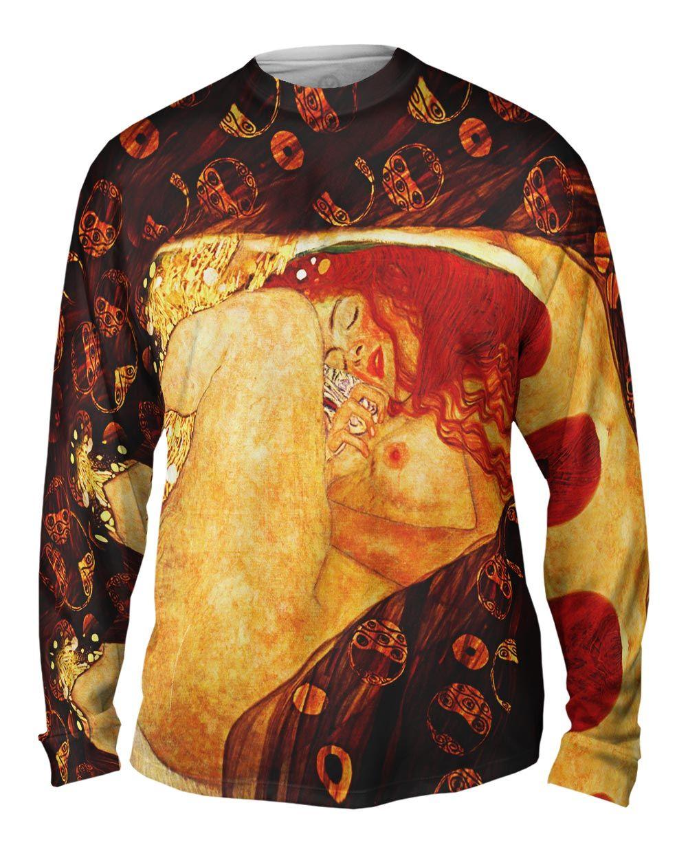 Danae -TShirt- Mens Long Sleeve Yizzam- Gustav Klimt 1907